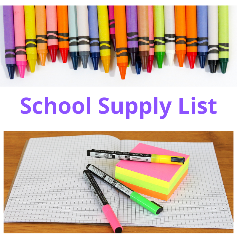 Follow the Link to our online School Supply List