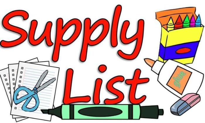 Supply List 2020-2021
