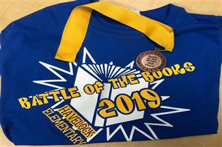 Battle of the Books T-Shirt & 3rd Place Medal from 2019