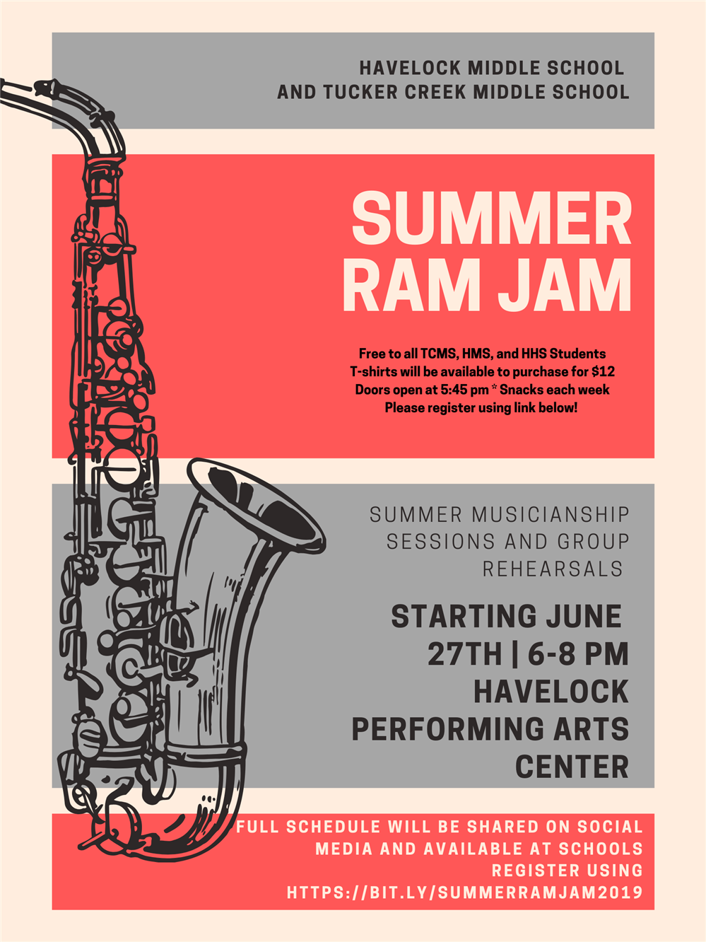 Summer Ram Jam Band Program