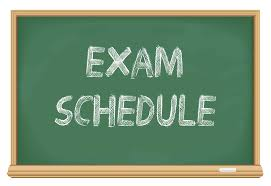 Fall Exams Schedule